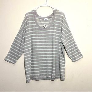NWT Old Navy Plus Size Striped Slouchy Sweater